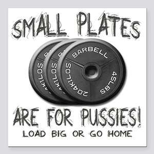 "Small plates  Square Car Magnet 3"" x 3"""