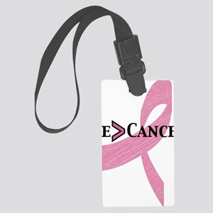 me greater than cancer Large Luggage Tag