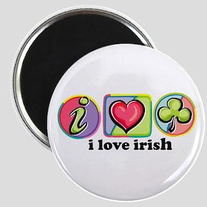 I Love Irish Heart Magnet