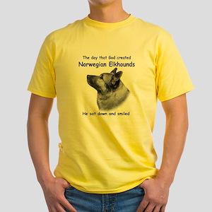 God-Elkhound Tile Yellow T-Shirt