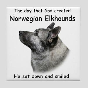 God-Elkhound Tile Tile Coaster