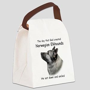 God-Elkhound Tile Canvas Lunch Bag
