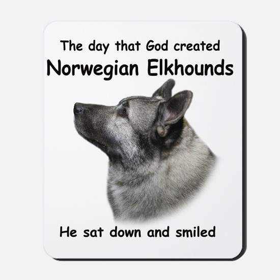 God-Elkhound Tile Mousepad