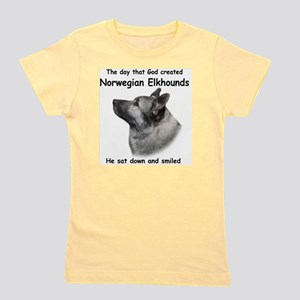 God-Elkhound Tile Girl's Tee