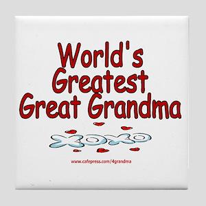 Great Grandma Tile Coaster