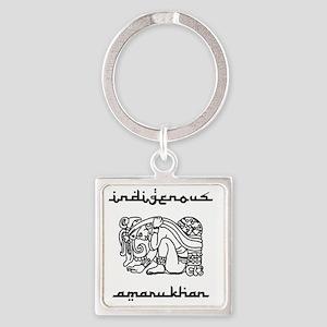 indigenous-amarukhan_vectorized Square Keychain