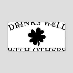 DrinksWell2 Aluminum License Plate