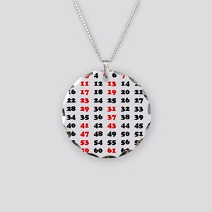 2-Prime Numbers 01 copy Necklace Circle Charm
