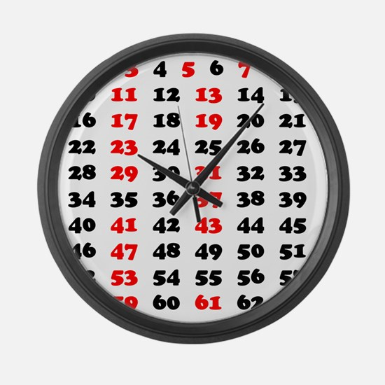 2-Prime Numbers 01 copy Large Wall Clock