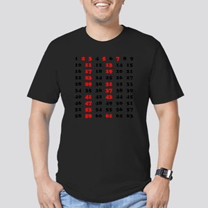 2-Prime Numbers 01 cop Men's Fitted T-Shirt (dark)