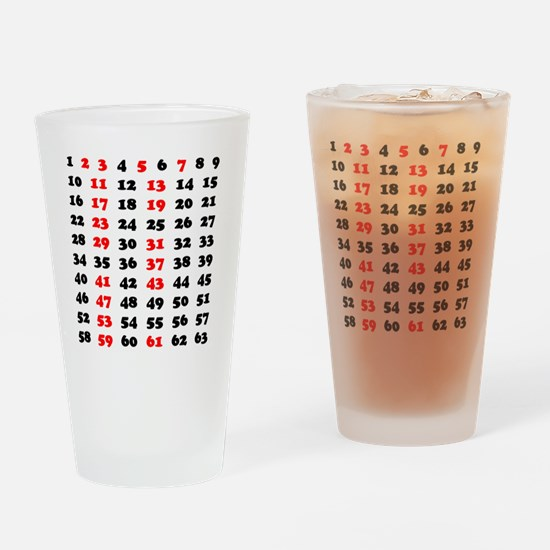 2-Prime Numbers 01 copy Drinking Glass