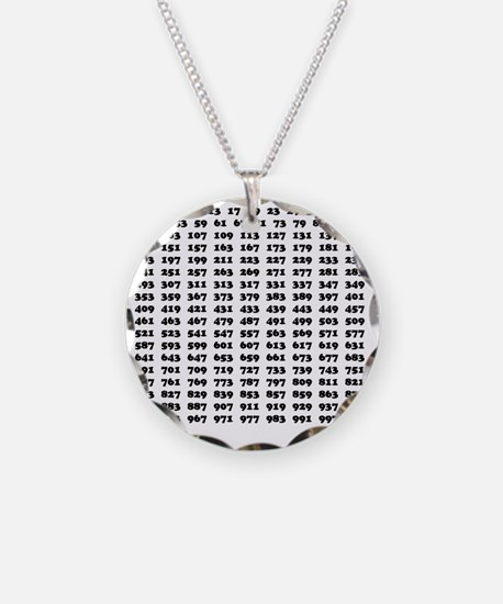 Prime Numbers list 01 copy Necklace