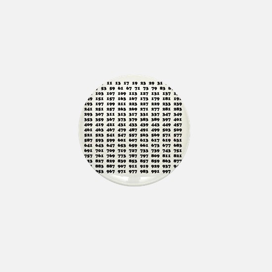 Prime Numbers list 01 copy Mini Button