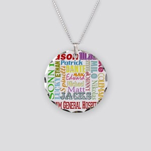 GH guy names copy Necklace Circle Charm