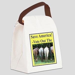 VoteOutHorsesp Canvas Lunch Bag
