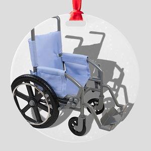 WheelchairBlueSeat073110 Round Ornament