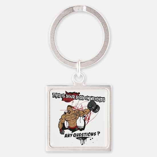 THIS IS YOUR BODY 2 Square Keychain