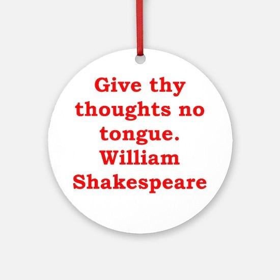 william shakespeare Ornament (Round)