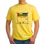 Cabo Verde Flags Yellow T-Shirt