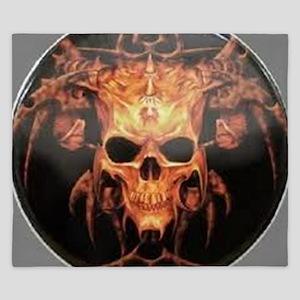 skull demon King Duvet