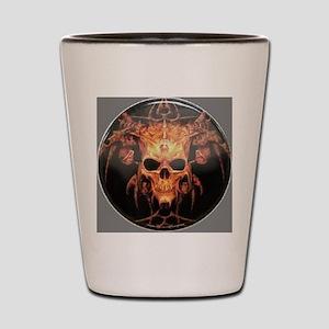 skull demon Shot Glass