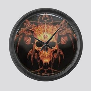 skull demon Large Wall Clock