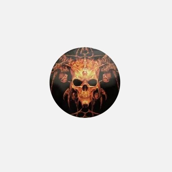 skull demon Mini Button