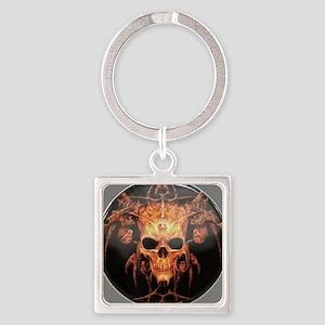 skull demon Square Keychain