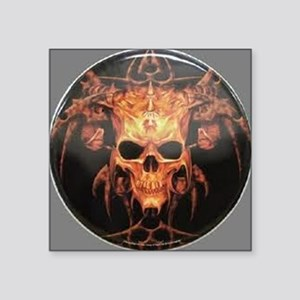 "skull demon Square Sticker 3"" x 3"""