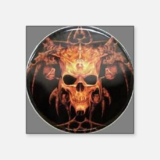 "skull demon Square Sticker 3"" x 3"""