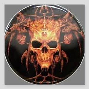 "skull demon Square Car Magnet 3"" x 3"""
