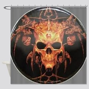 skull demon Shower Curtain