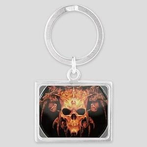 skull demon Landscape Keychain