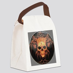 skull demon Canvas Lunch Bag