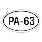 PA-63 Oval Sticker