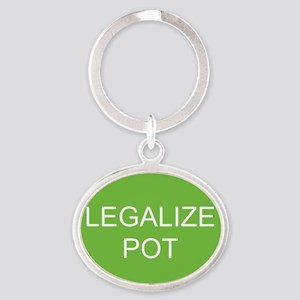 legalizepot Oval Keychain