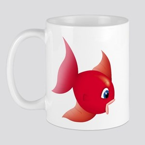 Red Fish Right-handed Mug