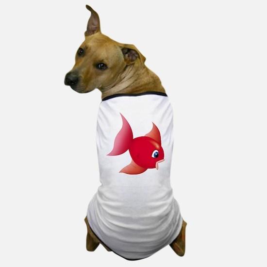 Red Fish Dog T-Shirt