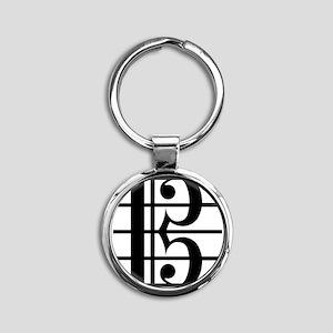 altoclef-smooth Round Keychain