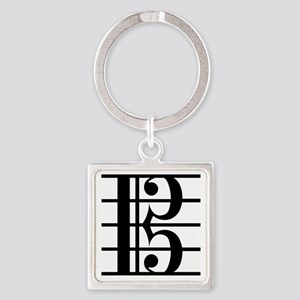 altoclef-smooth Square Keychain