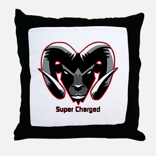 Super Charged Ram Style Mousepad Throw Pillow
