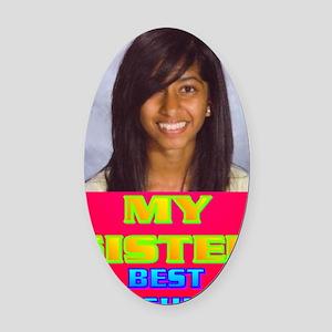3-Rifqa Bary(oval portrait) Oval Car Magnet