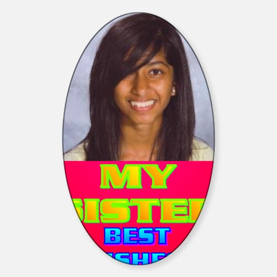 3-Rifqa Bary(oval portrait) Sticker (Oval)