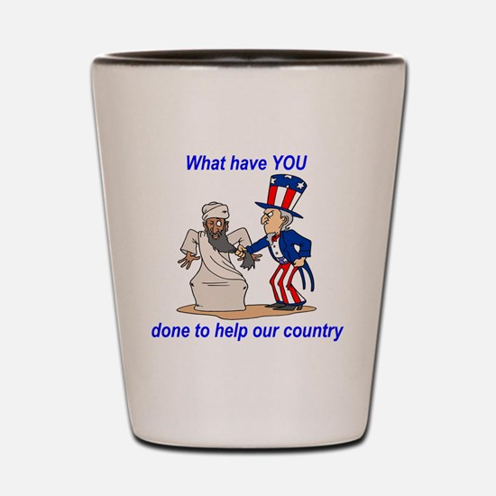 what-haveyoudone Shot Glass