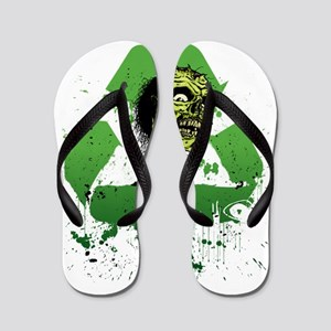 recycle_brains_onblack Flip Flops