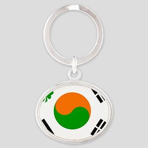 IRISHKOREAN Oval Keychain