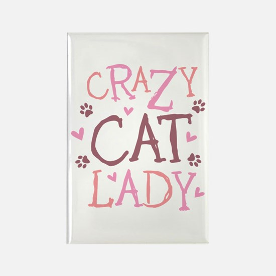 Crazy Cat Lady Rectangle Magnet