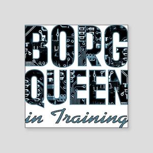 """star-trek_borg-queen-in-tra Square Sticker 3"""" x 3"""""""
