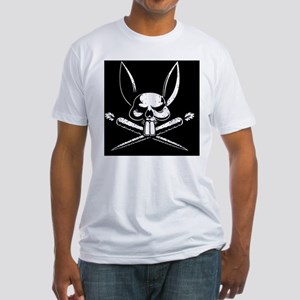 bunny-pirate-TIL Fitted T-Shirt