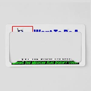 wantwhite copy License Plate Holder